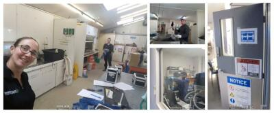Our laboratory technicians back in action
